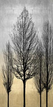 Trees on Silver & Gold II by Kate Bennett
