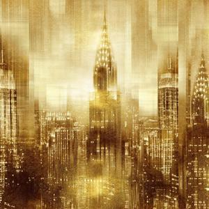 NYC - Reflections in Gold I by Kate Carrigan