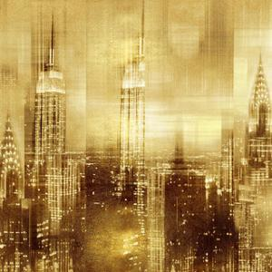 NYC - Reflections in Gold II by Kate Carrigan