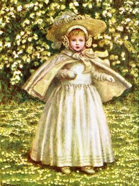 'A baby in white' by Kate Greenaway by Kate Greenaway