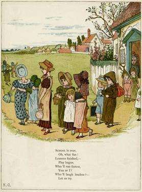 Children Coming Out of School by Kate Greenaway