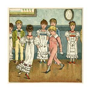 Children Dancing at a Party by Kate Greenaway
