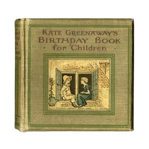 Cover Design, Kate Greenaway's Birthday Book for Children by Kate Greenaway