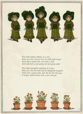 Five Little Girls in Winter Clothes by Kate Greenaway