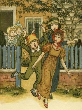 Girls and boys come by Kate Greenaway