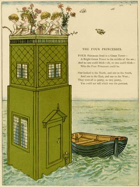 Illustration, the Four Princesses by Kate Greenaway