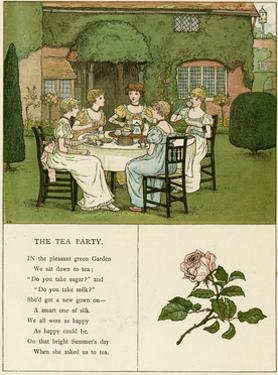 Illustration, the Tea Party by Kate Greenaway