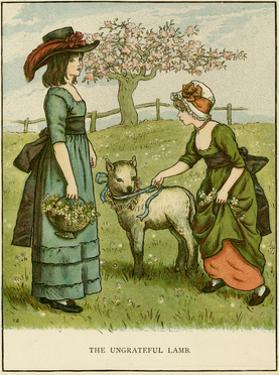Illustration, the Ungrateful Lamb by Kate Greenaway