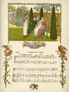 Illustration with Music, a Song of a Doll by Kate Greenaway