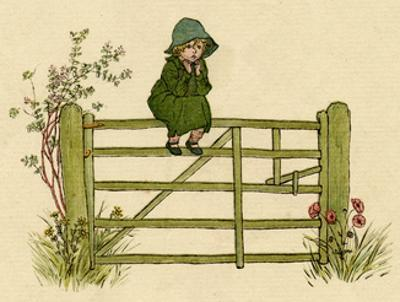 Little Child Sitting on a Fence