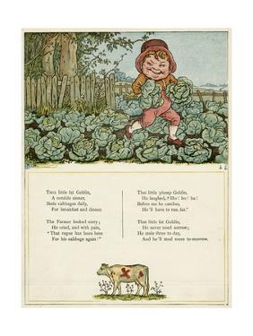 Little Fat Goblin Stealing Cabbages by Kate Greenaway