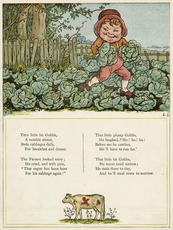 Little Fat Goblin Stealing Cabbages