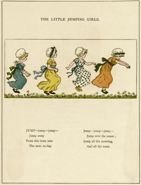 Little Jumping Girls by Kate Greenaway