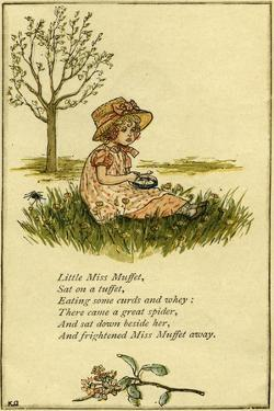 Little Miss Muffet illustrated by Kate Greenaway