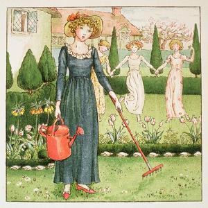 Mary, Mary, Quite Contrary, from 'April Baby's Book of Tunes' 1900 by Kate Greenaway