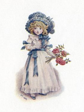 Taking in the roses' by Kate Greenaway by Kate Greenaway