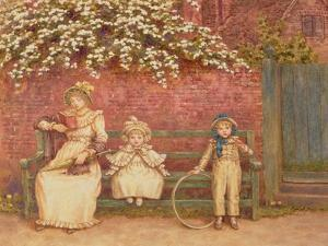The Garden Seat by Kate Greenaway