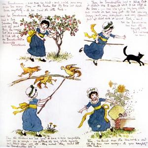 The naughty little girl who went to see her grandmama' by Kate Greenaway by Kate Greenaway