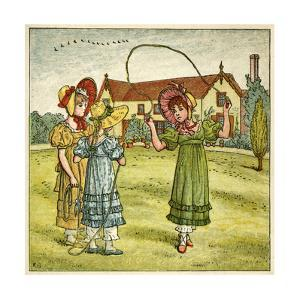 Three Girls with Skipping Ropes by Kate Greenaway