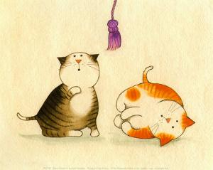Playful Kittens IV by Kate Mawdsley