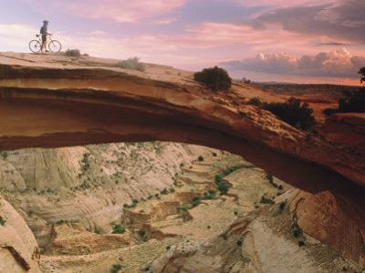 Mountain-Biking over a Natural Arch by Kate Thompson