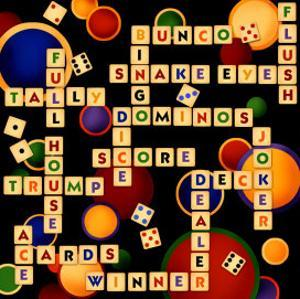 Dice, Bunco and Dominos by Kate Ward Thacker