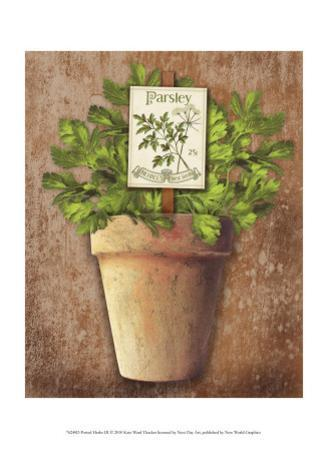 Potted Herbs III by Kate Ward Thacker