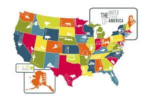 USA Map (bright) by Katelyn Lynch