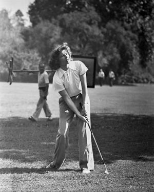 Katharine Hepburn Playing Golf by A Kahle