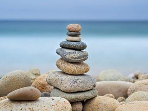 Stonewall Beach Cairn Crop by Katherine Gendreau