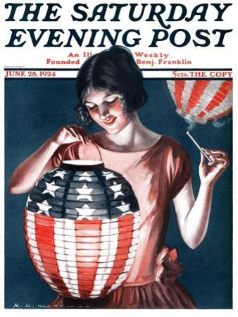 """Japanese Lantern,"" Saturday Evening Post Cover, June 28, 1924"