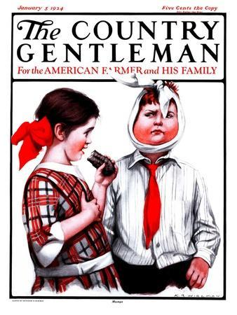 """""""Mumps,"""" Country Gentleman Cover, January 5, 1924"""