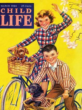 Spring Bike Ride - Child Life, March 1946 by Katherine Wireman