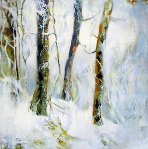 Winter in the Woods by Kathleen Cloutier