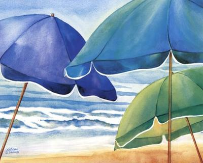 Seaside Umbrellas by Kathleen Denis
