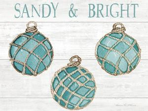 Coastal Holiday Ornament VIII Sandy and Bright by Kathleen Parr McKenna