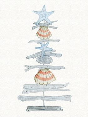 Coastal Holiday Tree I Red by Kathleen Parr McKenna