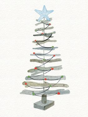 Coastal Holiday Tree III Red by Kathleen Parr McKenna