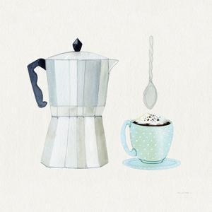 Coffee Break VII Tan by Kathleen Parr McKenna