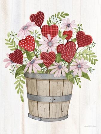 Rustic Valentine Bushel Basket by Kathleen Parr McKenna
