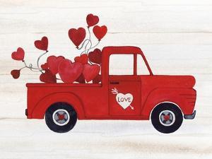 Rustic Valentine Truck by Kathleen Parr McKenna