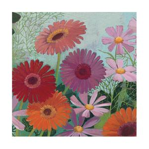 Cosmos and Gerberas II by Kathrine Lovell