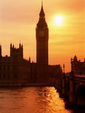 Big Ben and Houses of Parliament, Unesco World Heritage Site, London, England by Kathy Collins