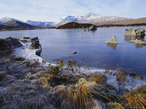 Lochan Na H-Achlaise, Rannoch Moor, Strathclyde, Highlands Region, Scotland, UK, Europe by Kathy Collins