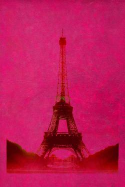 Retro-Styled Eiffel Tower in Pink by Kathy Collins