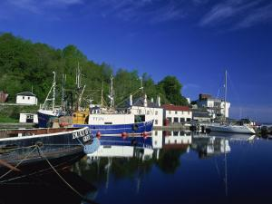 Tranquil Scene of Boats Reflected in Still Water on the Crinan Canal, Crinan, Strathclyde, Scotland by Kathy Collins