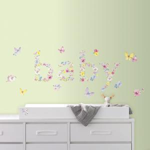 Kathy Davis Baby Butterflies Peel and Stick Wall Decals