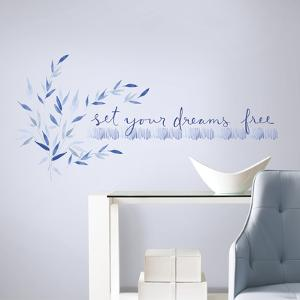 Kathy Davis Set Your Dreams Free Quote Peel and Stick Wall Decals
