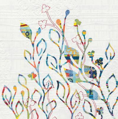 Rainbow Vines with Flowers by Kathy Ferguson