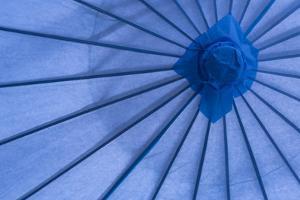 Blue Umbrella by Kathy Mahan